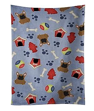 """Caroline tesoros del bb2626ktwl marrón Bulldog Francés toalla de cocina, 25 """"x 15"""""""