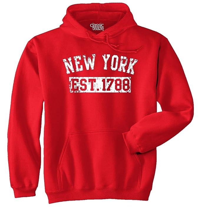 New York State USA American Gift Printed Tee Shirt Gift Ideas Fleece Hoodie