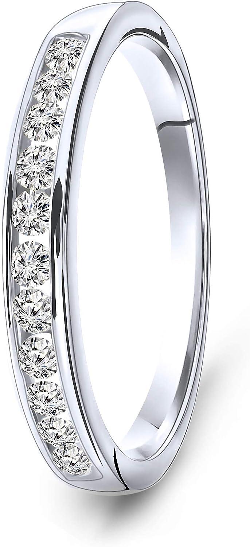 Miore anillo de eternidad con diamantes 0.33 quilates para mujer en oro blanco/amarillo 14 quilates
