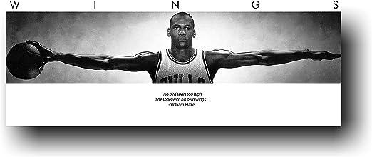 72x23 Michael Jordan Wings Door Sports Poster Print