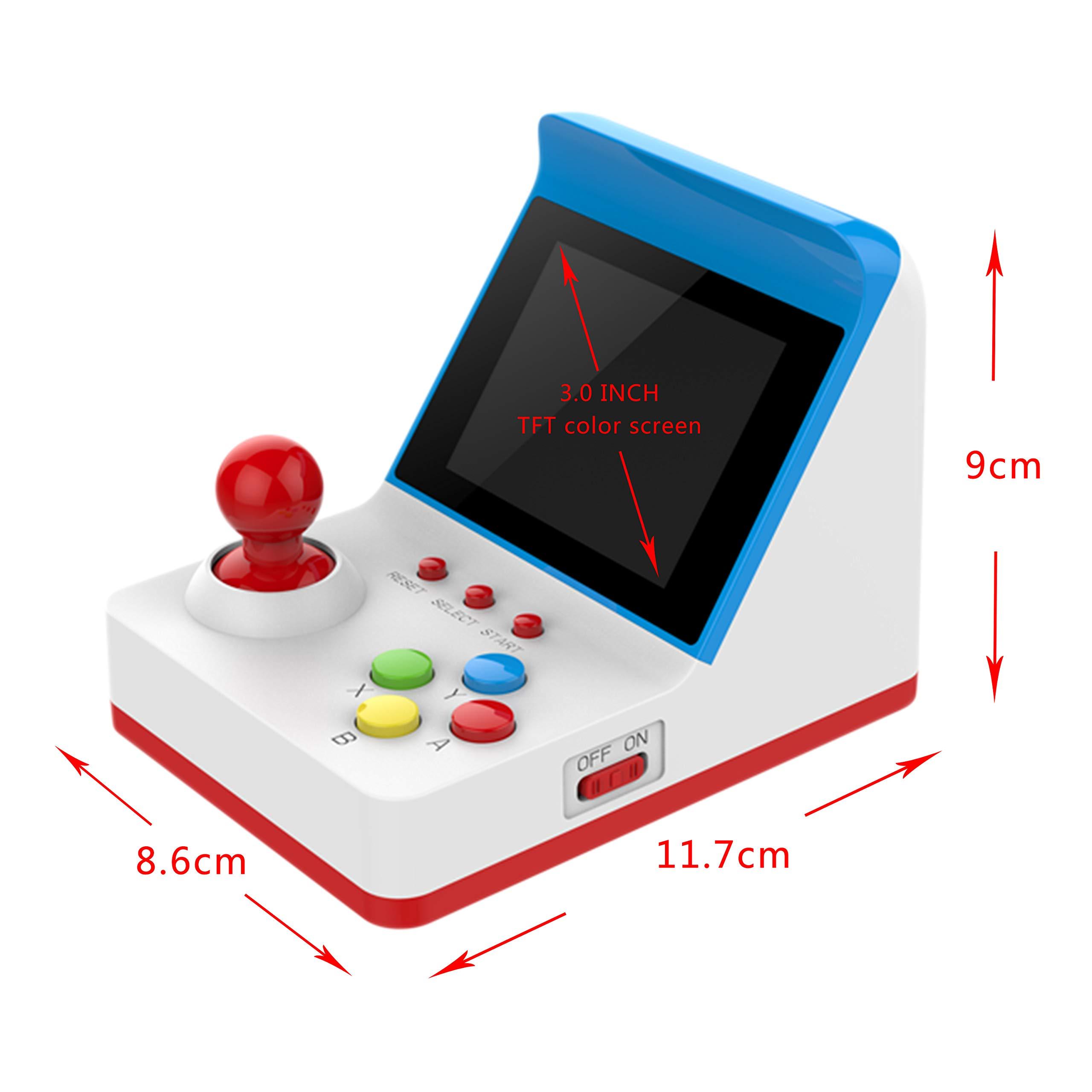 BAORUITENG Handheld Game Console, Retro FC Game Console Video Game Console with 3 Inch 360 Classic Games with 2 Joysticks , Birthday Present for Children (red) by BAORUITENG (Image #5)
