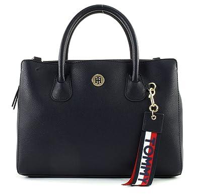 Tommy Hilfiger Damen Handtasche Tasche Henkeltasche Charming Tommy M  Workbag Blau AW0AW05643-902 e800bc5910