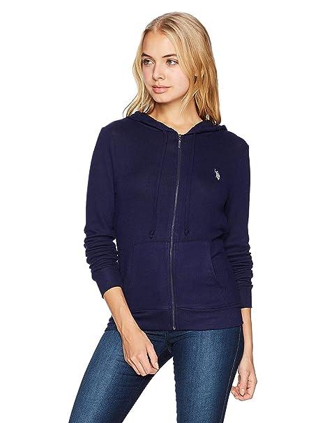 U.S. Polo Assn. para Mujer Zip Up Sweater Chamarra - Azul ...