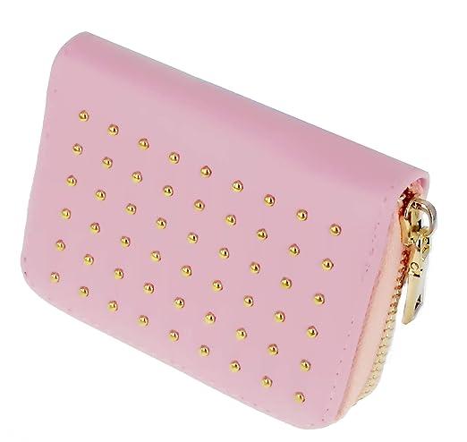 Amazon.com: ABC HISTORIA mujeres bonito rosa Studded cierre ...