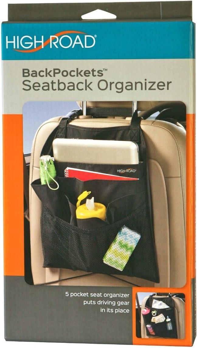 Black High Capacity 5 Pockets Car Seat Back Organizers Bag Interior Accessories