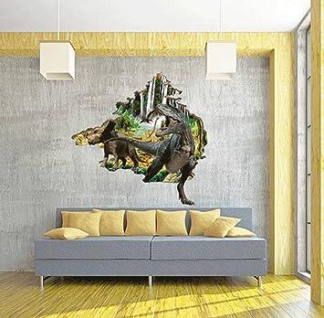 c16fe8e47b653e YiyiLai Stickers Muraux 3D Autocollant Mural PVC Décor Chambre Enfant  Dinosaure Animaux