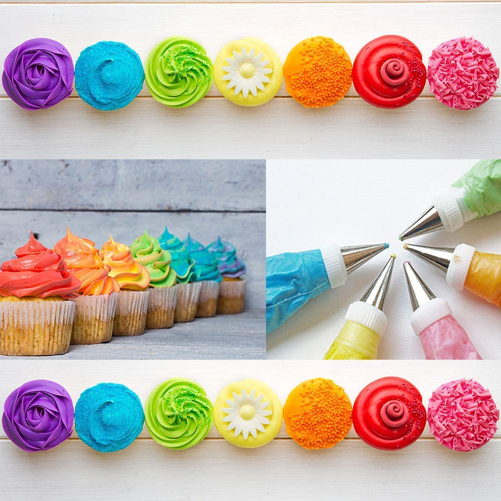 Cake Decorating Supplies kit- 108 Baking Supplies with 48 numbered Icing Tips & pattern Chart, Non-Slip Cake Rotating Turntable, Frosting & Piping Bags, Icing Spatulas & Smoother, Pastry Tools by A Sweet Deal By The Deal SP (Image #7)
