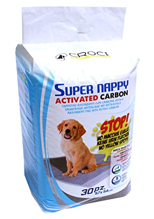 Croci Super Absorbente para pañales (con carbón Activo para Perros, 57 x 54 cm