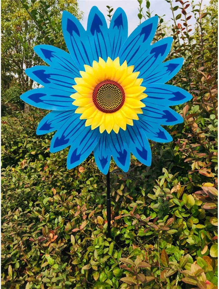 MeterMall Tools /& Home for Sunflower Windmill Wind Turbine for Lawn Garden Party Decoration Yellow