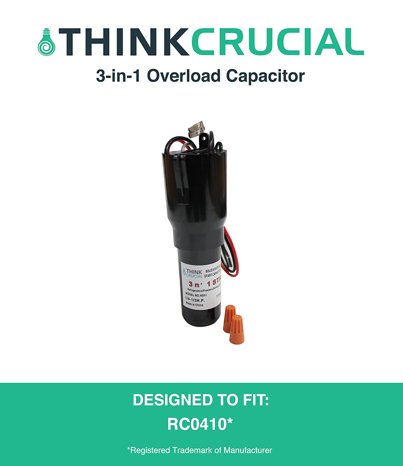 Amazon.com: Durable HS41 RCO410 3-in-1 Start Relay, Capacitor & Overload  Device Start Kit for Refrigerators & Freezers, by Think Crucial: Automotive
