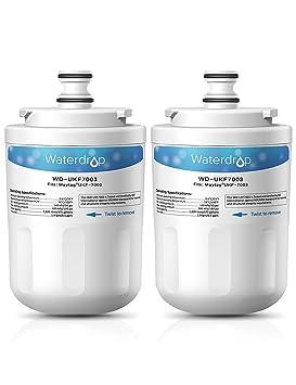 2 x Waterdrop WD-UKF7003 Reemplazo del filtro de agua del refrigerador para Whirlpool EDR7D1