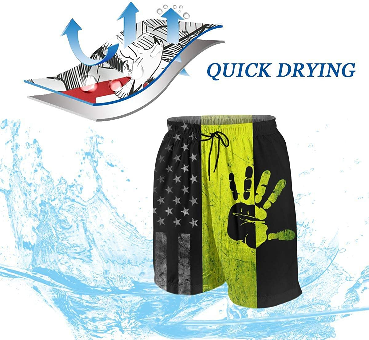 Boys Hawaiian Quick Dry Swim Trunks Slim Fit Sports Board Shorts Beachwear Pants