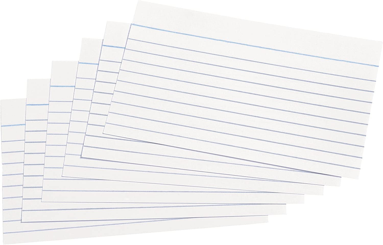 blanco Paquete de 100 notas 127 x 76 mm 5 star Record Cards
