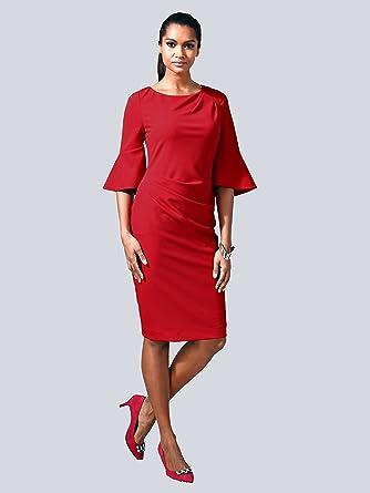 Alba Moda Damen Kleid Rot: : Bekleidung