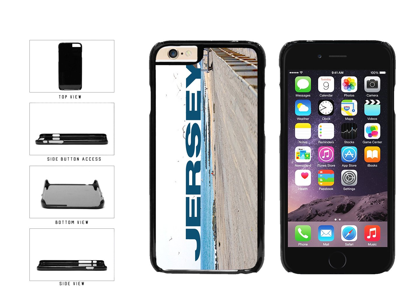 Jersey Beach and Shore Plastic Phone Case Back Cover Apple iPhone 6 6s (4.7 inches screen) includes BleuReign(TM) Cloth and Warranty Label