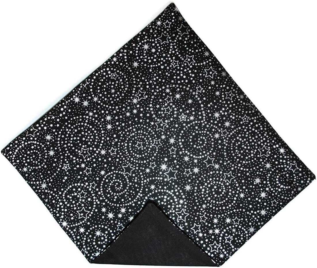 Holiday Bow Ties Mens Handkerchief Black Gold Metallic Stars Pocket Square