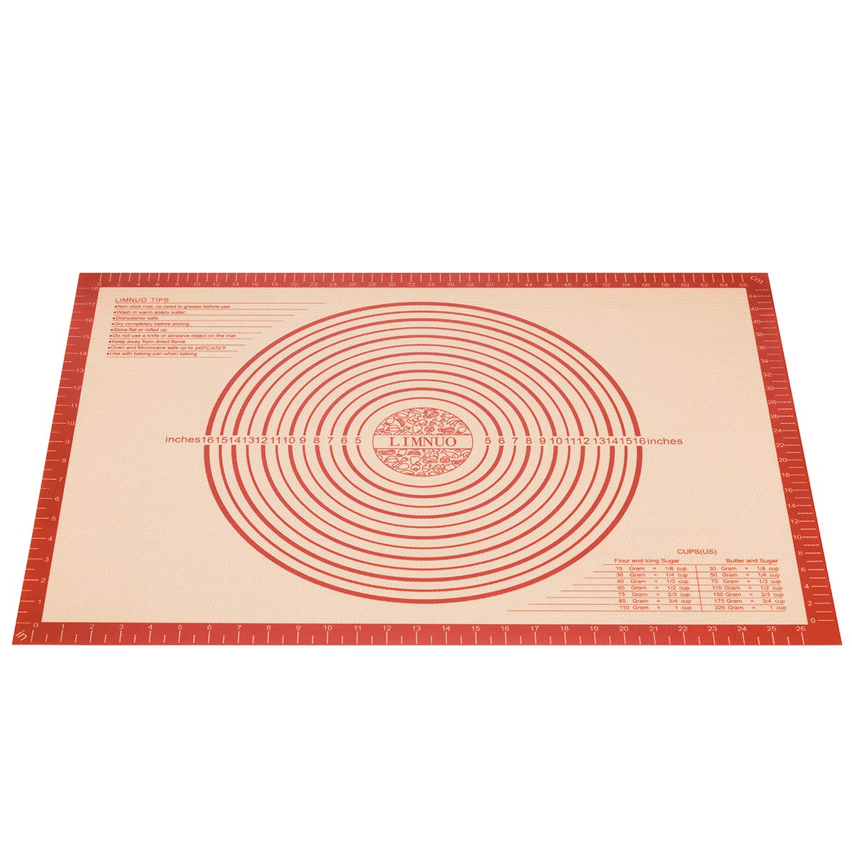 Reusable Non-Stick Large Silicone Pastry Mat for Housewife 20 x 28 Silicone Baking Mat for Pastry Rolling with Measurements,Large 28 x 20 ;Liner Heat Resistance Table Placemat Pad Pastry Board