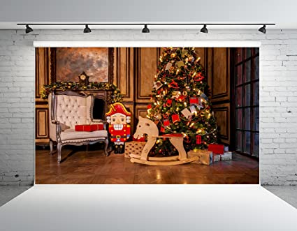 kate 7x5ft christmas theme indoor decorating photography backdrop hobbyhorse photo background - Amazon Christmas Decorations Indoor