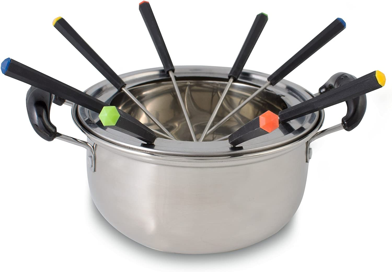 2 W Negro Suntec Wellness RAC-8458 raclette-Fondue-Set Juego