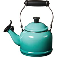 Le Creuset Enamel On Steel Demi Tea Kettle, 1.25 qt., Caribbean