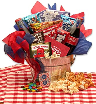 movie gift pail for movie lovers gift baskets associates gift