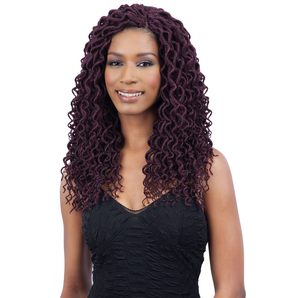 Amazon Freetress 2x Soft Curly Lite Faux Loc Crochet Synthetic