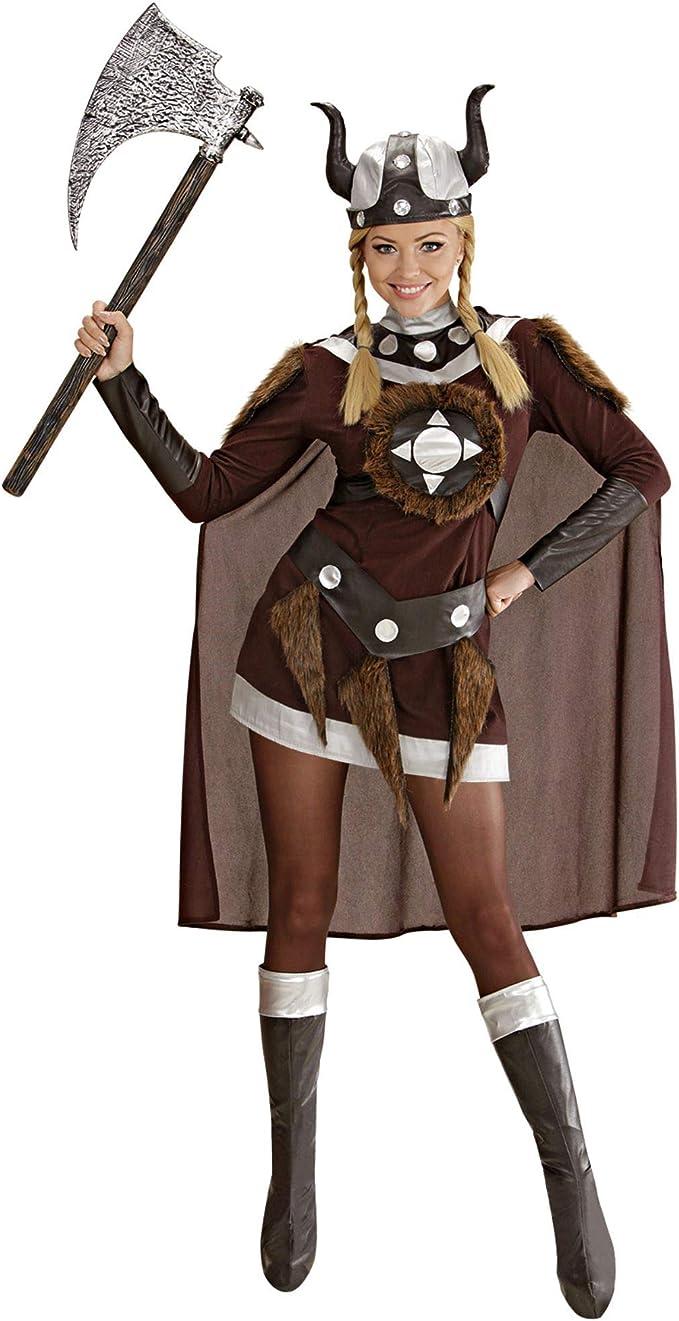 WIDMANN Desconocido Disfraz de vikinga para mujer: Amazon.es ...