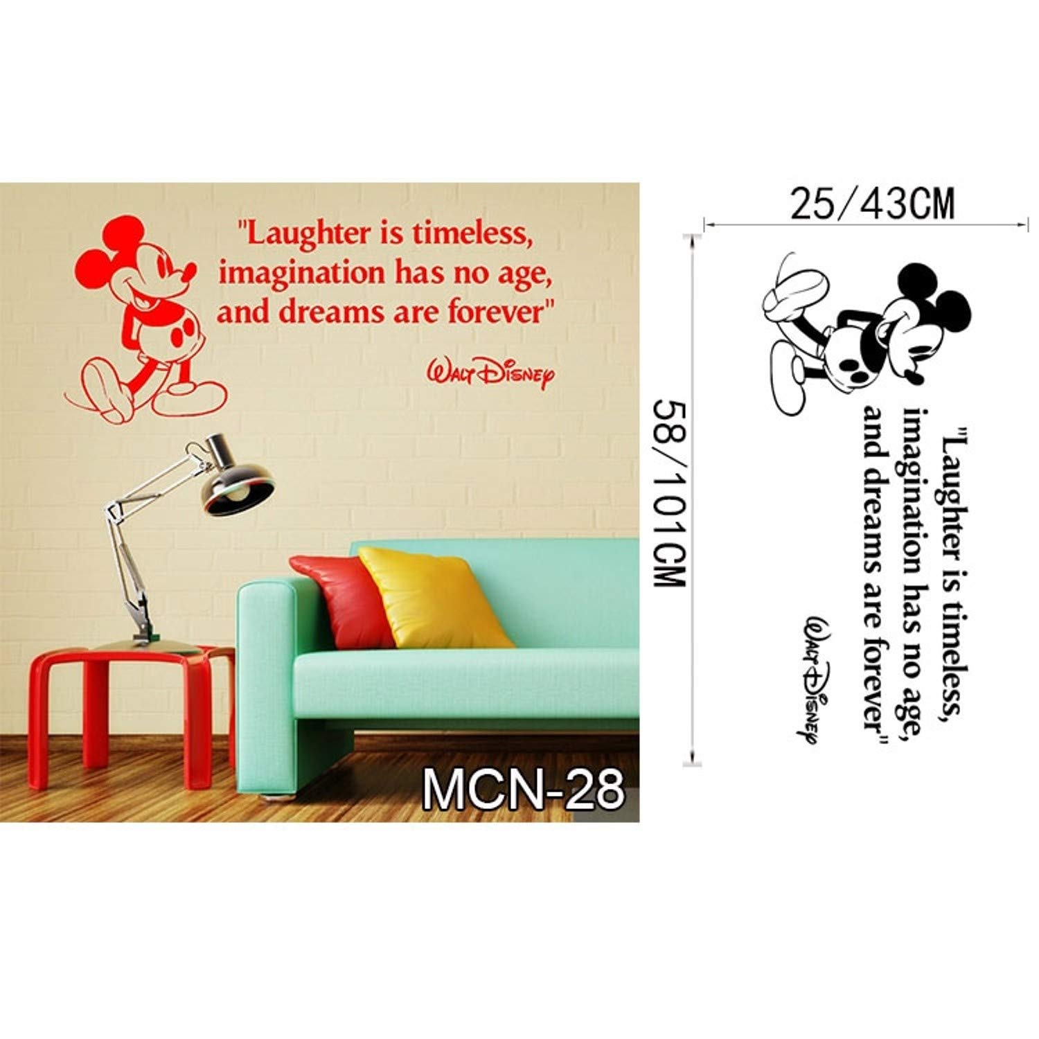 Amazon.com: Jewh Baby Mickey Mouse Warm Custom Name Wall Stickers - Decal Girls Boys Kids Room Wall Personalized Name Nursery Decoration (MCN28) (L): Home & ...