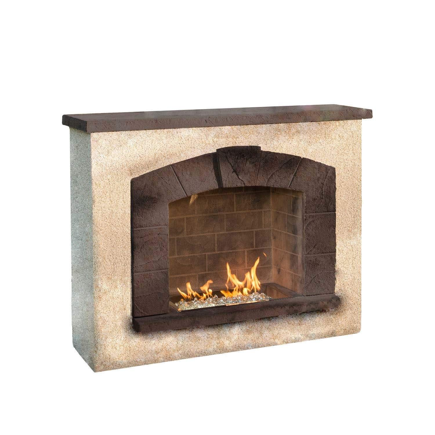 amazon com outdoor great room stone arch gas fireplace with stucco