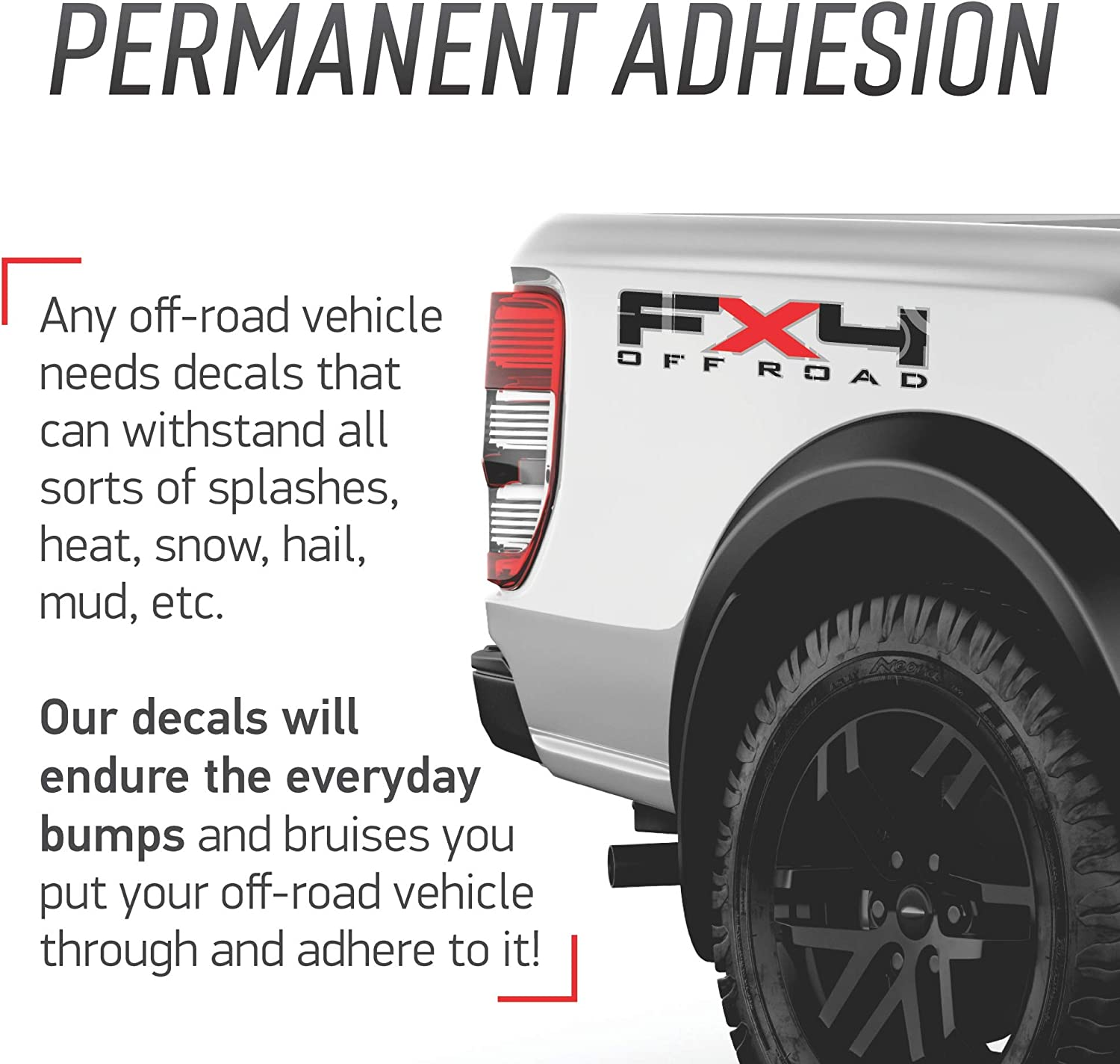 2014 FX4 Off Road Ford F-150 // F-250 // F-350 // Decal // Sticker // Graphic // Truck Bed Side. 2013 Red 6 to 8 Year Outdoor Life Set of two Silver White and Blue 2012