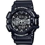 Casio G-Shock Black and Silver-Tone Dial Resin Quartz Men's Watch GA400GB-1A