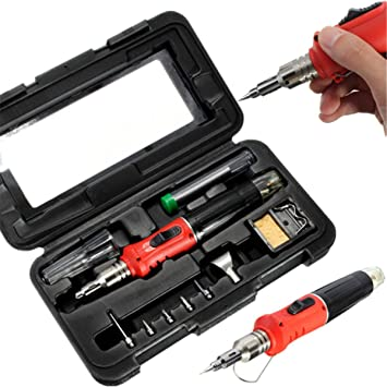 mohoo 10 HS de 1115 K en 1 Qualitex Gas Butano Soldador Set 26 ml Welding Kit Antorcha: Amazon.es: Bricolaje y herramientas