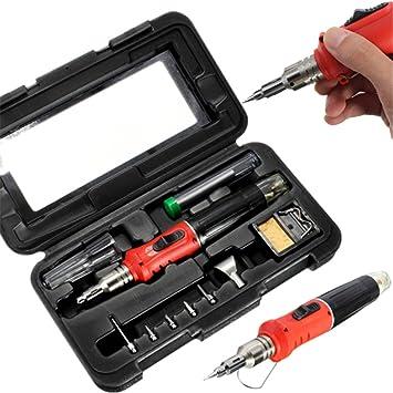 mohoo 10 HS de 1115 K en 1 Qualitex Gas Butano Soldador Set 26 ml Welding Kit Antorcha: Amazon.es: Bricolaje y herramientas