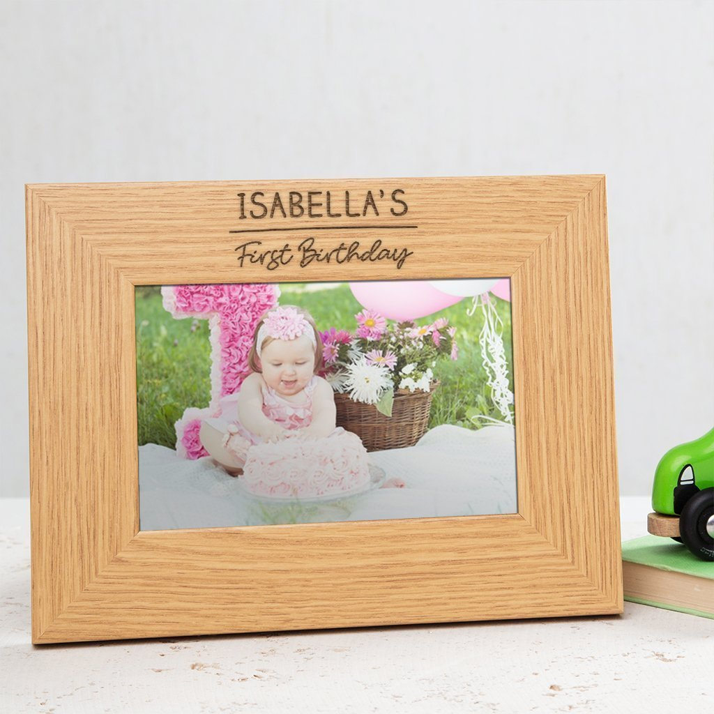 Amazon Com First Birthday Photo Frame First Birthday Present First Birthday Granddaughter Or Grandson Gifts First Birthday Girl Boy Gift Ideas 6x4 7x5 8x6 Picture Frames Available Handmade