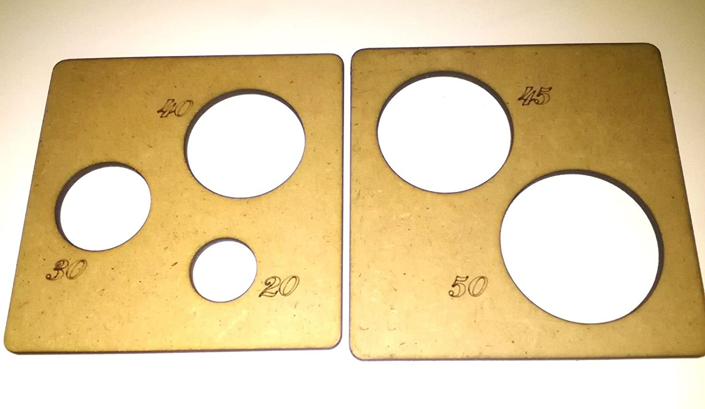 Plantillas para termoformar cabezas de fofuchas para bolas de 20-30-40-45-50 mm: Amazon.es: Hogar