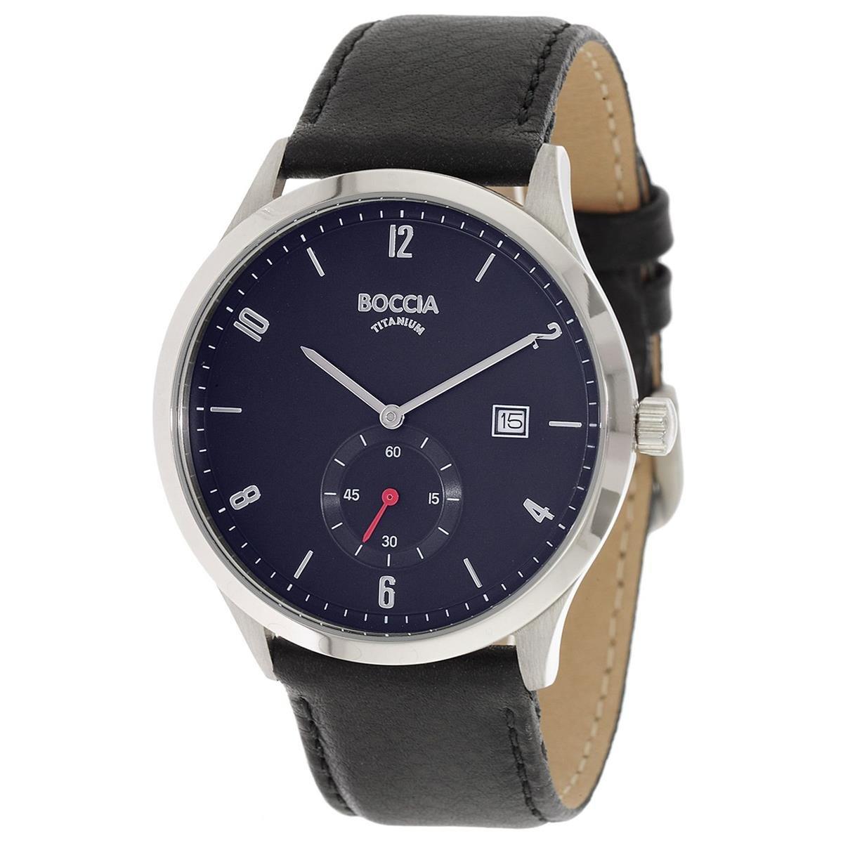 Boccia Reloj Digital para Hombre de Cuarzo con Correa en Cuero 3606-02