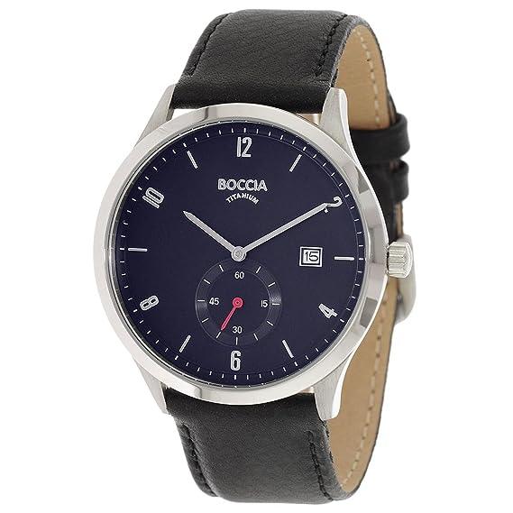 Boccia Reloj Digital para Hombre de Cuarzo con Correa en Cuero 3606-02: Amazon.es: Relojes
