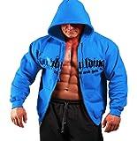 Mens Iron & Pain Zipper Hoodie Royal Blue G-49
