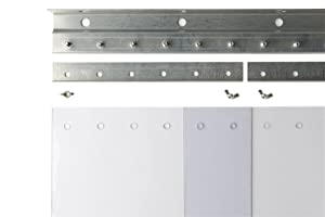 "Ideal Warehouse Innovations, Inc. 10-1202 PVC Strip Door 8""x.080"" Standard 4'x7' UM Door 2"" O.L"