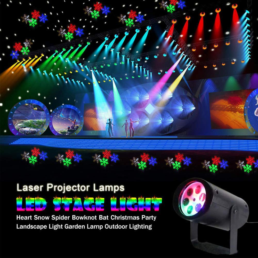4 Patterns Led Christmas Snowflake Projector Led Disco Light Dj Ktv Laser Stage Lighting Halloween Indoor Decoration Light Lights & Lighting