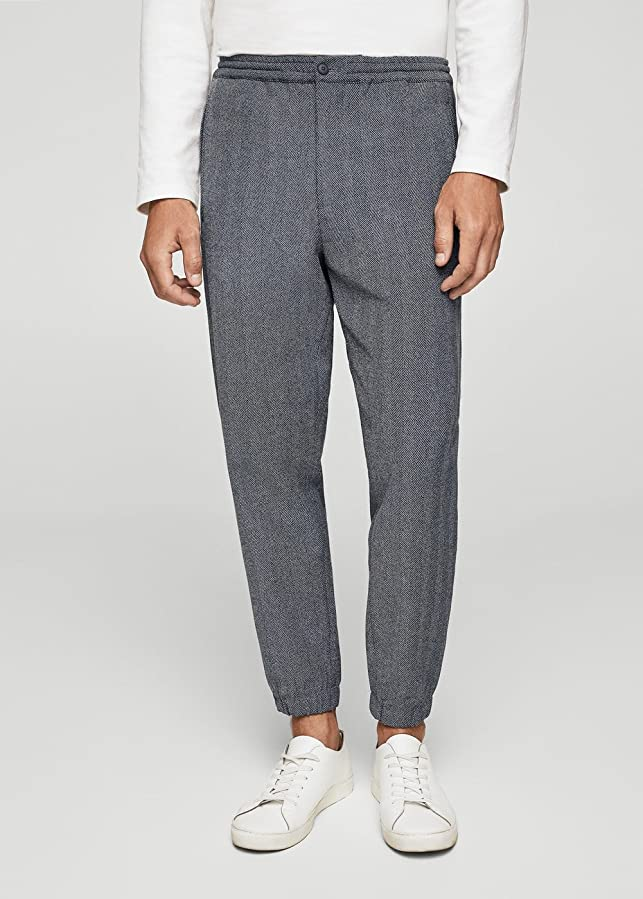 Mango Men 's Herringbone Jogging Suit Trousers B075G2RM53