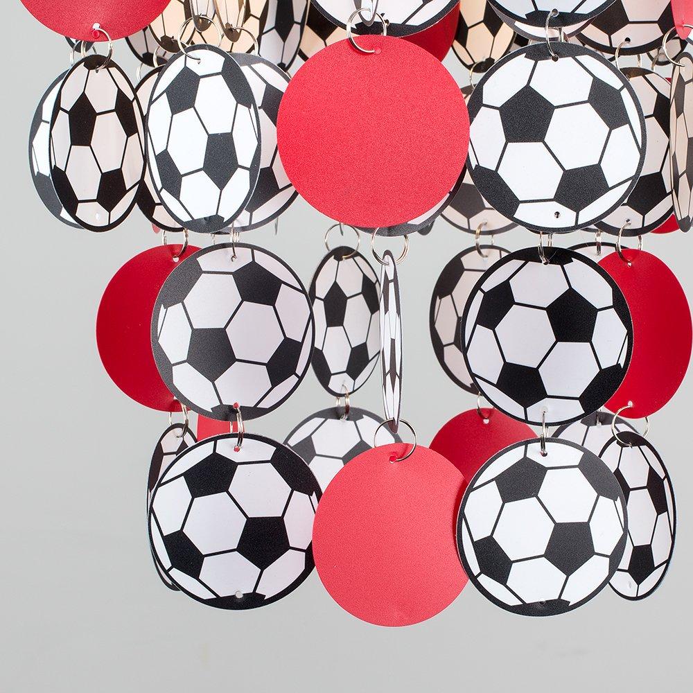 BLEU Noir et Blanc Enfants Pour Douille de 28mm ou 42mm BALLON Football Foot ALLEZ LES BLEUS Soccer MiniSun Abat-Jour Abat Jour Lustre Suspension CASCADE