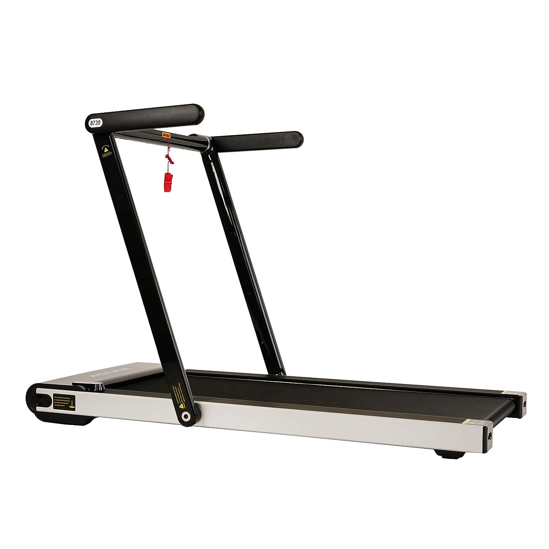 Sunny Health Fitness Asuna Space Saving Treadmill, Motorized with Low Profile, Speakers Slim Folding – 8730