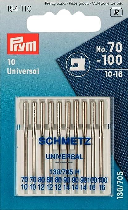 Prym Agujas para máquina de coser estándar, 154110, 70-100, 130/
