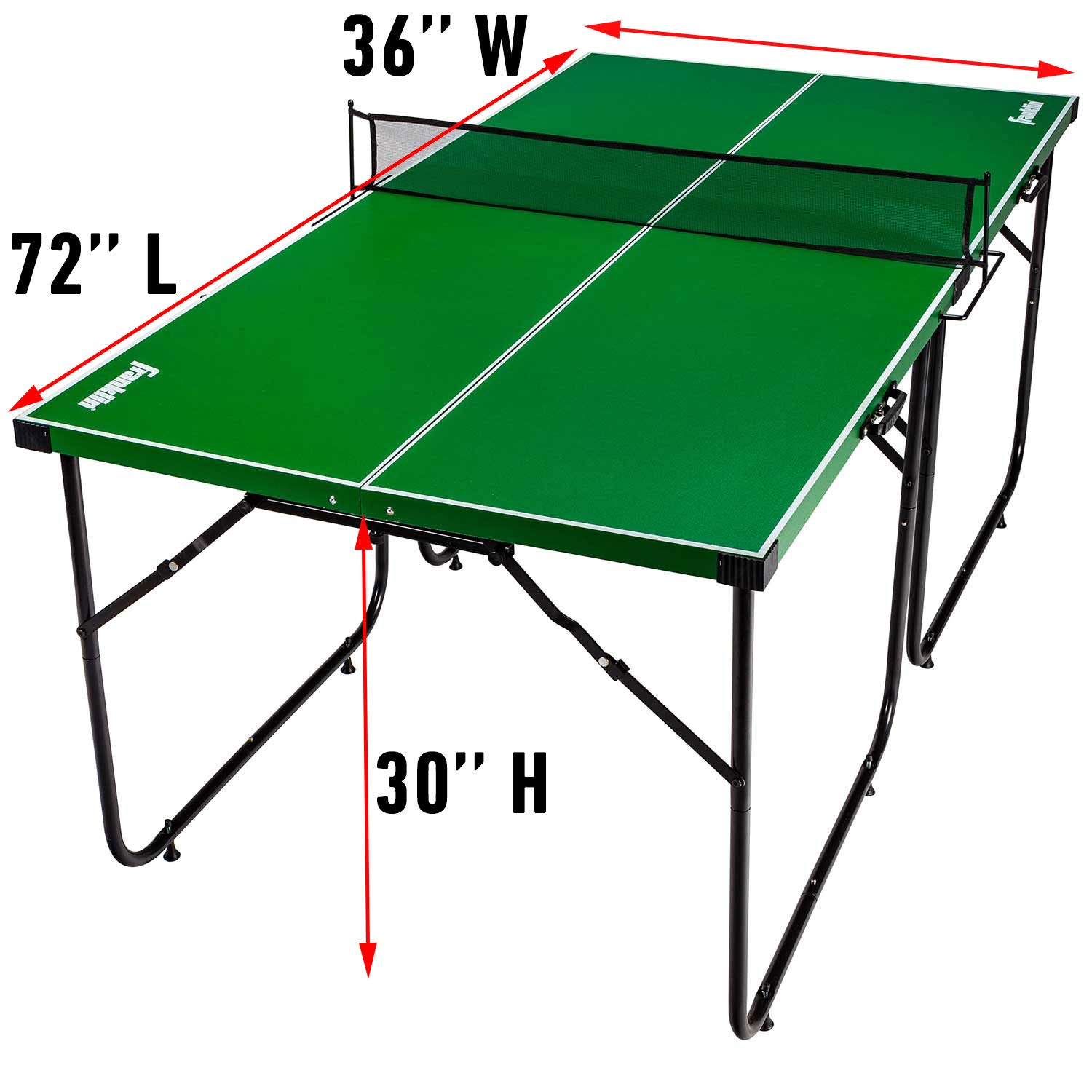 Franklin Sports Mid Size Table Tennis Table Ideal For Smaller Spaces Space Saving Design