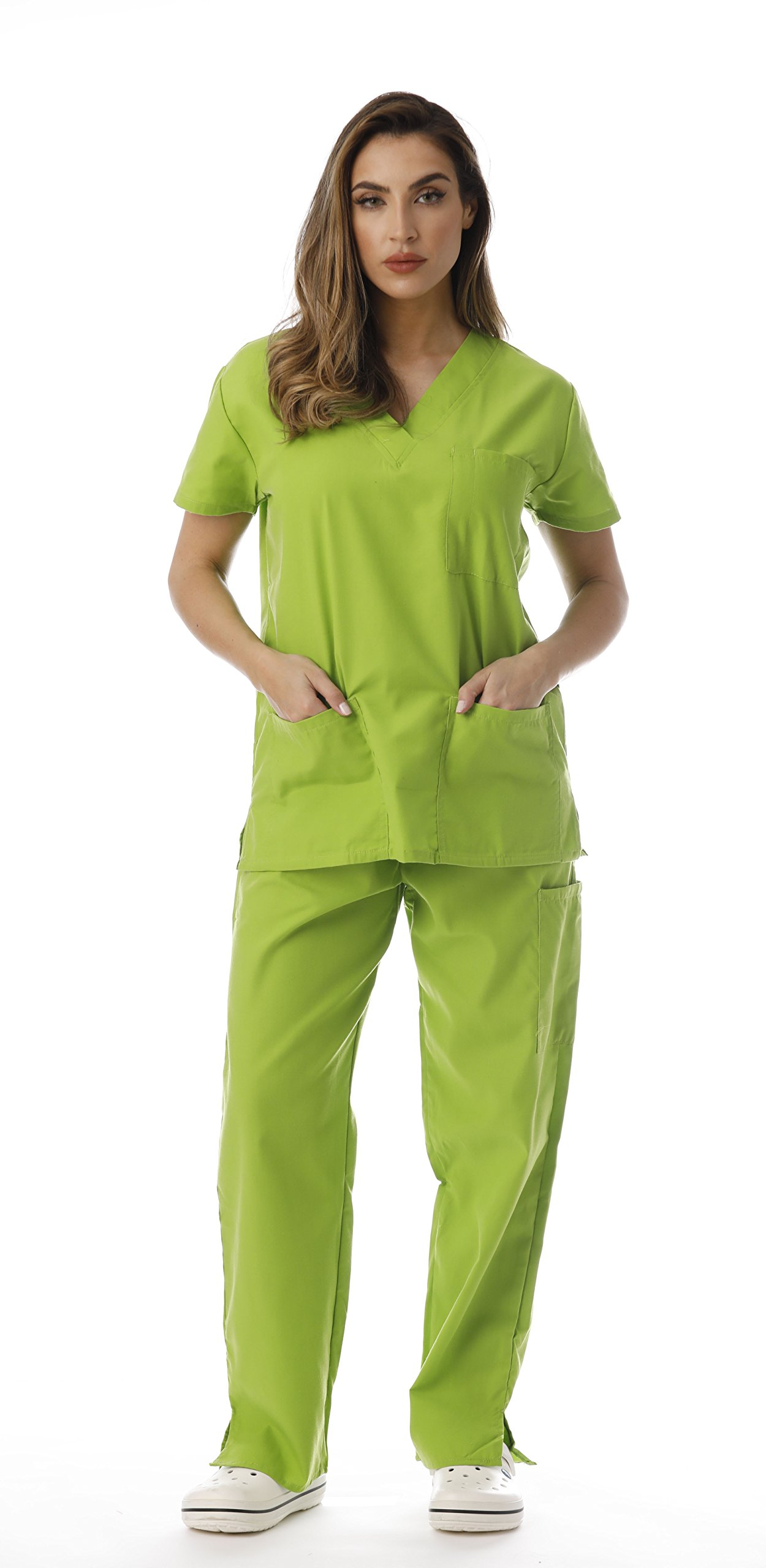 Just Love Women's Scrub Sets 22222V-Lime-XS