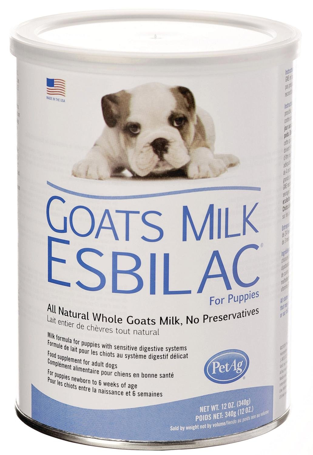 Pet Ag 12 Pack of Goat's Milk Esbilac Powder for Puppies, 12 Ounces Per Canister