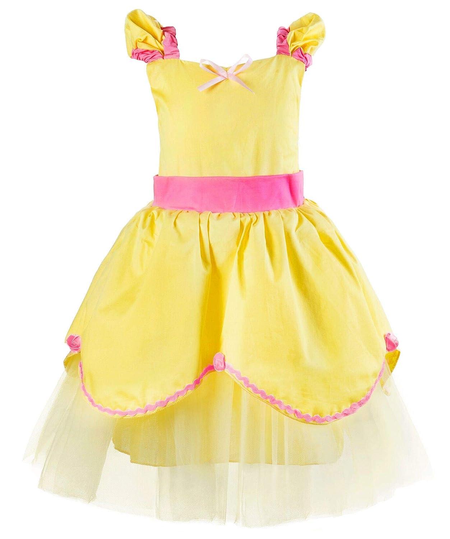 Okidokiyo Baby Girl Princess Sofia Belle Aurora Dress up Toddler Costume