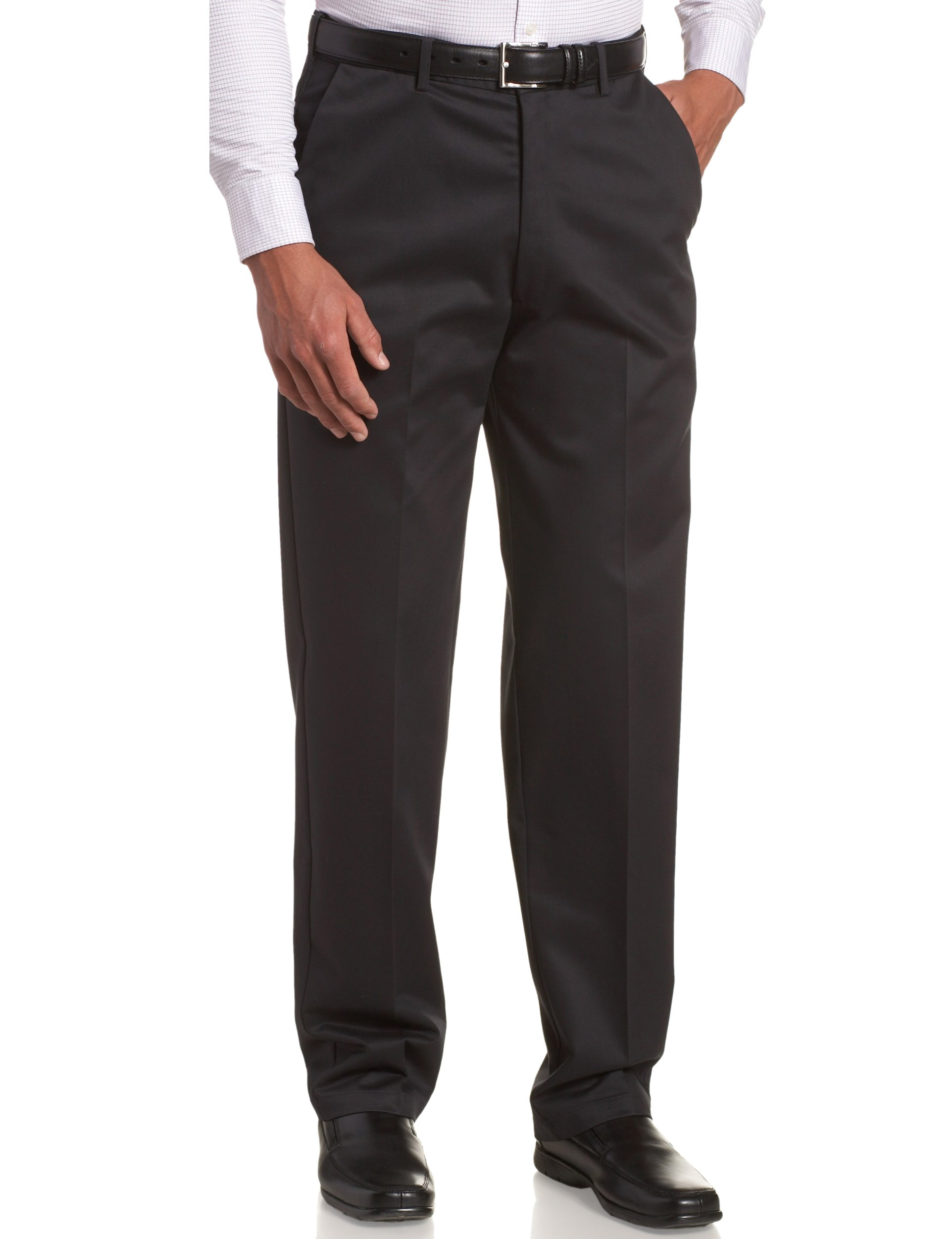 Haggar Men's Big-Tall Work to Weekend Hidden Expandable Waist Plain Front Pant,Dark Navy,48x32