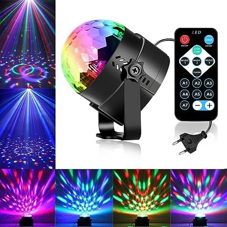 Lámpara de escena mando a distancia BESTTRENDY 7 colores con ...